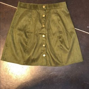 Dresses & Skirts - Olive green button up skirt